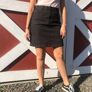 Vintage Black denim Calvin Klein skirt - size 6